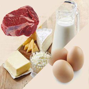 carne huevos y lácteos