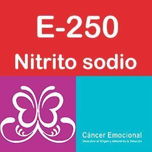 E-250 Nitrito de sodio