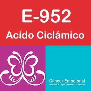 E-952 Acido ciclamico, sales de sodio y calcio