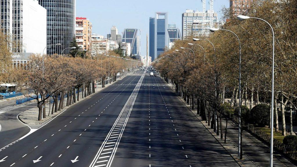 calles de Madrid vacias por el coronavirus