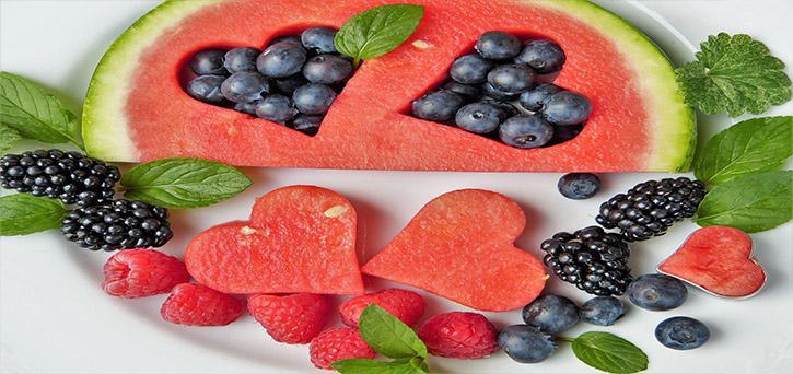 alimentación saludable con fruta