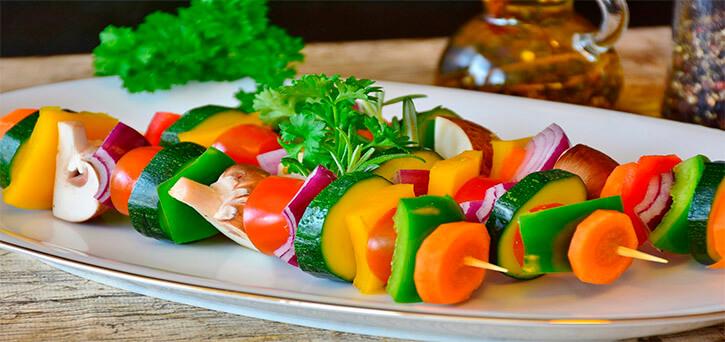Alimentación saludable con verduras
